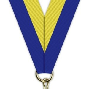 H002 300x300 - Medaljebånd Blå/Gul