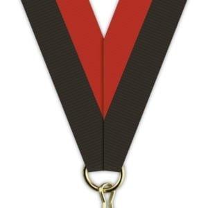 H007 300x300 - Medaljebånd Sort/Rød