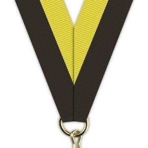 H010 300x300 - Medaljebånd Sort/Gul