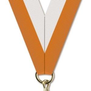 H020 300x300 - Medaljebånd Oransje/Hvit