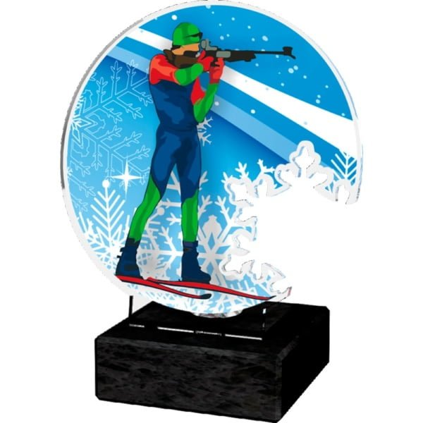 Akrylstatuett Skiskyting Standplass