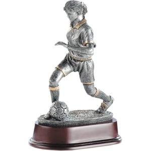 Statuett kvinnelig Fotballspiller Q19