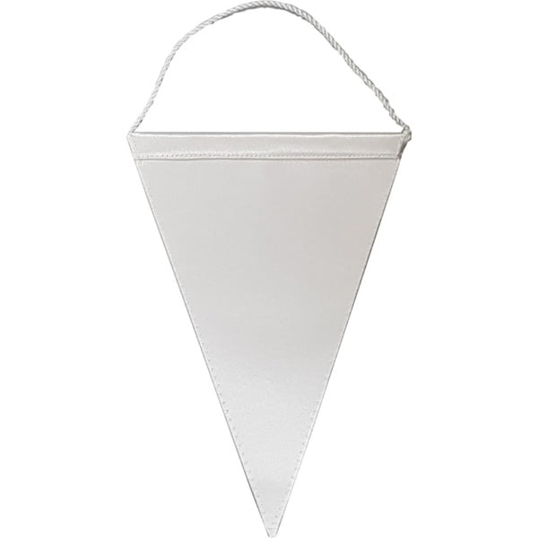 Bordvimpel trekantet hvit stor 25cm