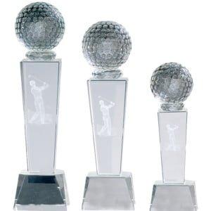 krystallstatuett med golfball og 3d figur 2 300x300 - Eksklusive premier