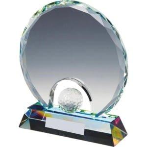 plakett i krystall med golfball 300x300 - Eksklusive premier