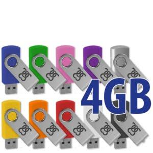 USB Minnepinne 4GB med logotrykk