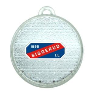Rund Refleks Hvit Med Logo 300x300 - Rund refleks med fargetrykk, sertifisert