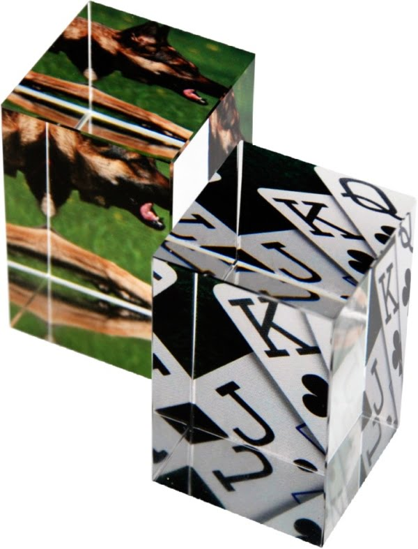 Glassblokk med print 6