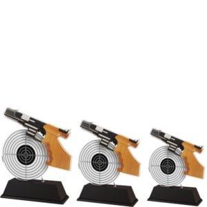 Akrylstatuett Pistolskyting