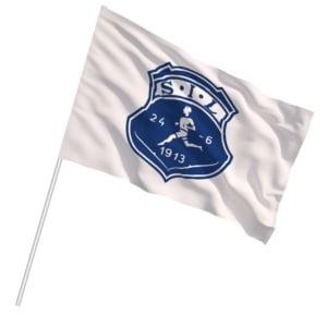 Ekstra stort supporterflagg 2,88x1,92m