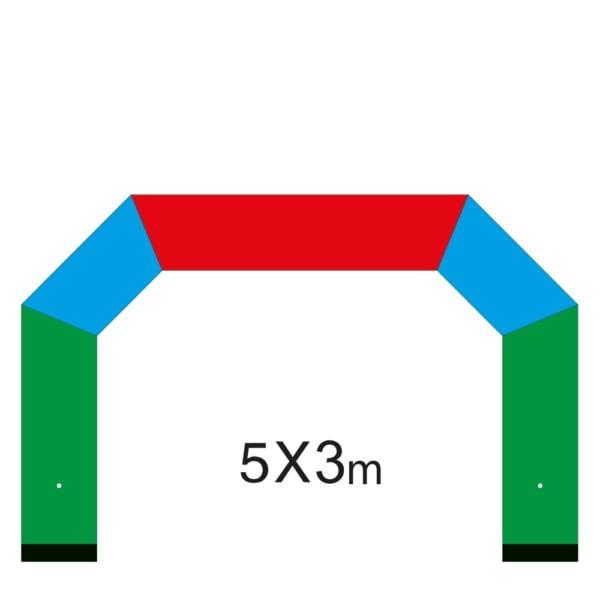 Oppblåsbar start- og målbue 4
