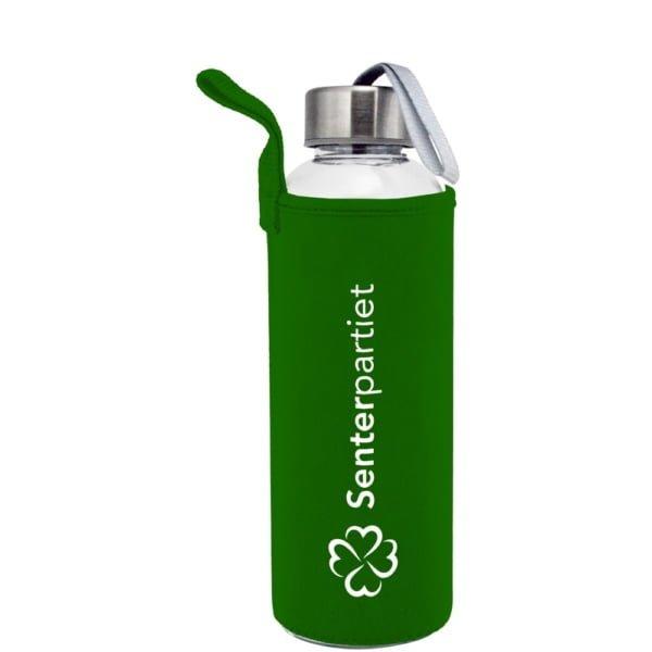 Plastflaske 550m Neopren Gronn 600x600 - Drikkeflaske og isolerende lomme med motivtrykk