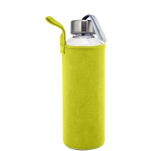 Plastflaske 550m Neopren Gul 600x600 - Drikkeflaske og isolerende lomme med motivtrykk