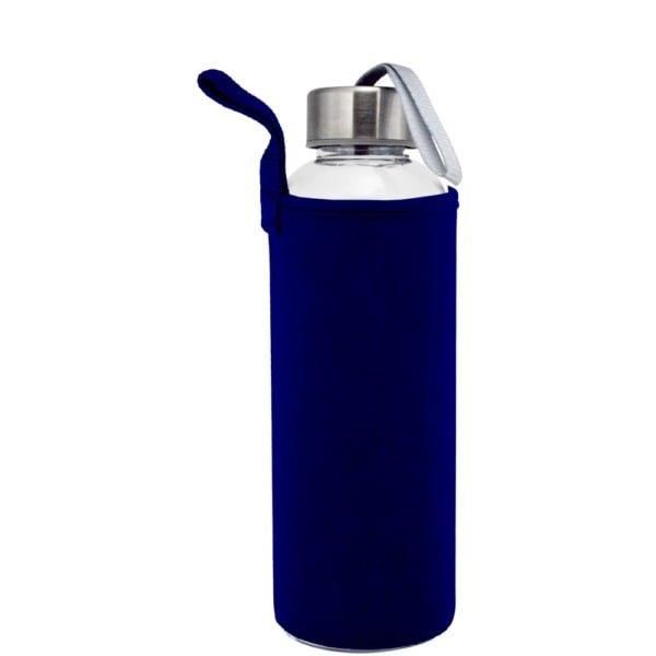 Plastflaske 550m Neopren MorkBla 600x600 - Drikkeflaske og isolerende lomme med motivtrykk