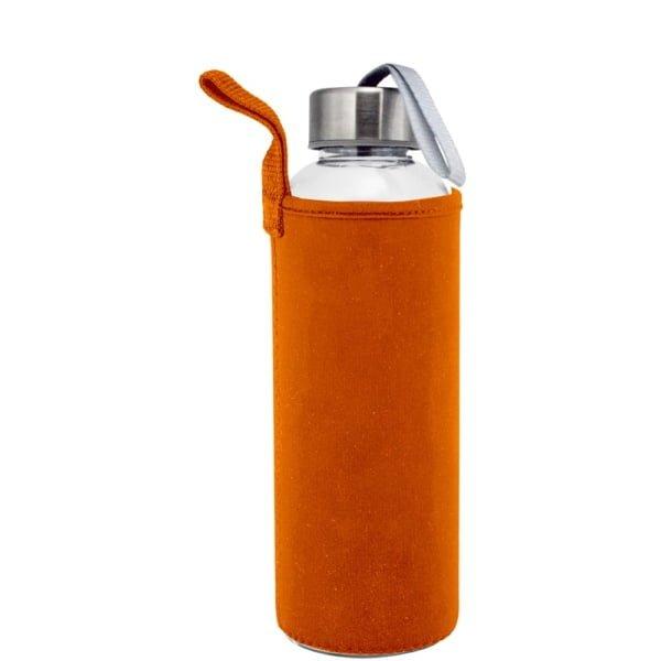 Plastflaske 550m Neopren Oransje 600x600 - Drikkeflaske og isolerende lomme med motivtrykk