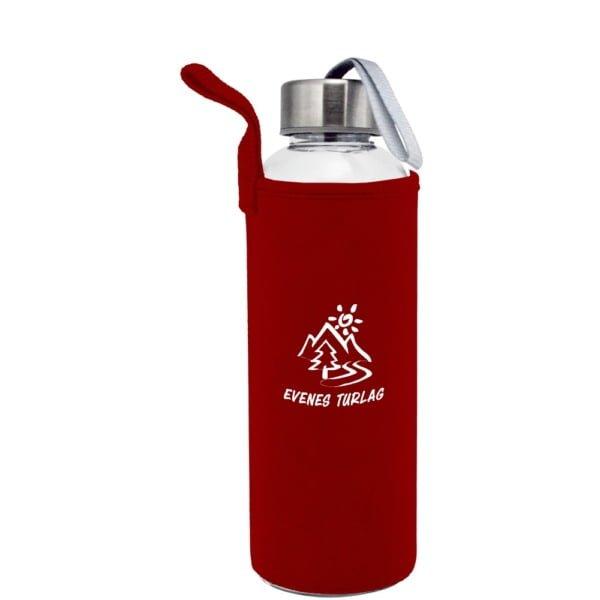 Plastflaske 550m Neopren Rod 600x600 - Drikkeflaske og isolerende lomme med motivtrykk