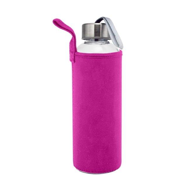 Plastflaske 550m Neopren Rosa 600x600 - Drikkeflaske og isolerende lomme med motivtrykk
