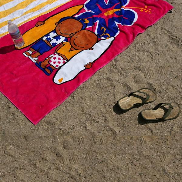 Strandhaandkle 600x600 - Badehåndkle med fullfarge motivtrykk
