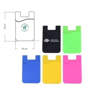 kortholder mobil 3 300x300 - Kortholder for mobil med logotrykk