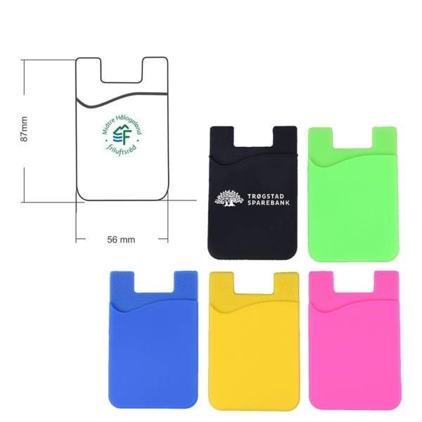 kortholder mobil 3 600x600 - Kortholder for mobil med logotrykk
