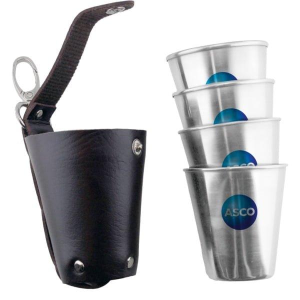 Drikkebeger 70ml 600x600 - Drikkebeger 70ml 4 stk i futteral med logo