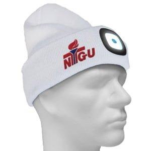 Lue Med Lys Hvit LysPå 300x300 - Lue med LED-lys og brodert logo