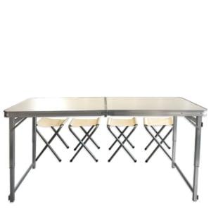 Sammenleggbart Bord 150cm med stoler 300x300 - Sammenleggbart bord med stoler