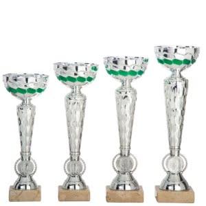 KR701 Alle 300x300 - Slank pokal i sølv med detaljer i grønt - KR.701
